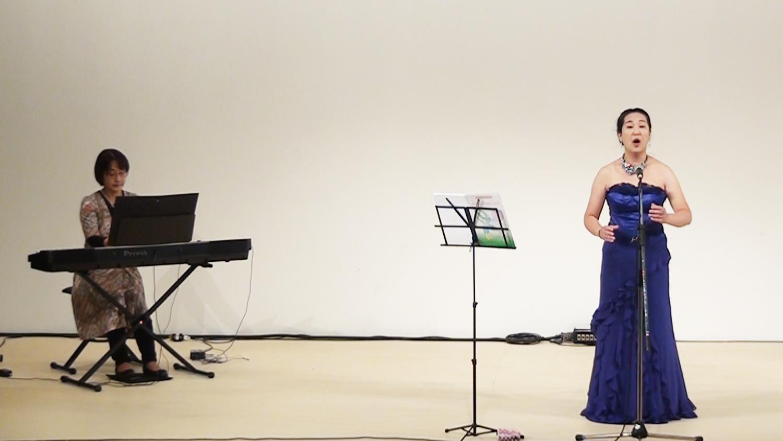 さんぽde野外ライブ ソプラノ(仙田久子)/ピアノ(塩谷恵子)
